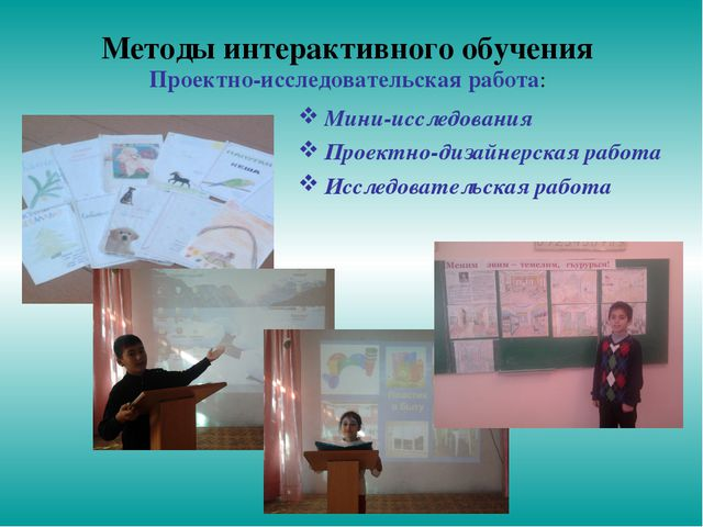 Методы интерактивного обучения Проектно-исследовательская работа: Мини-исслед...