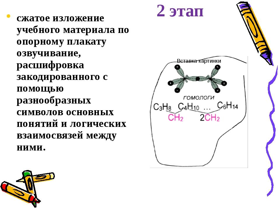 2 этап сжатое изложение учебного материала по опорному плакату озвучивание, р...