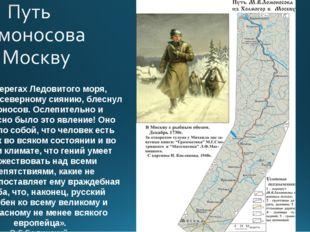 «На берегах Ледовитого моря, подобно северному сиянию, блеснул Ломоносов. Осл