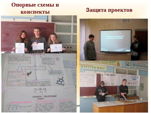 Стафикопуло И.Н. Защита проектов Опорные схемы и конспекты Стафикопуло И.Н.