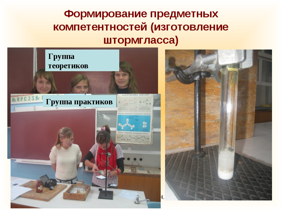 Стафикопуло И.Н. Формирование предметных компетентностей (изготовление штормг...