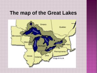 The map of the Great Lakes