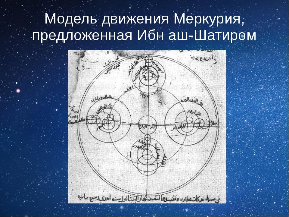 Модель движения Меркурия, предложеннаяИбн аш-Шатиром