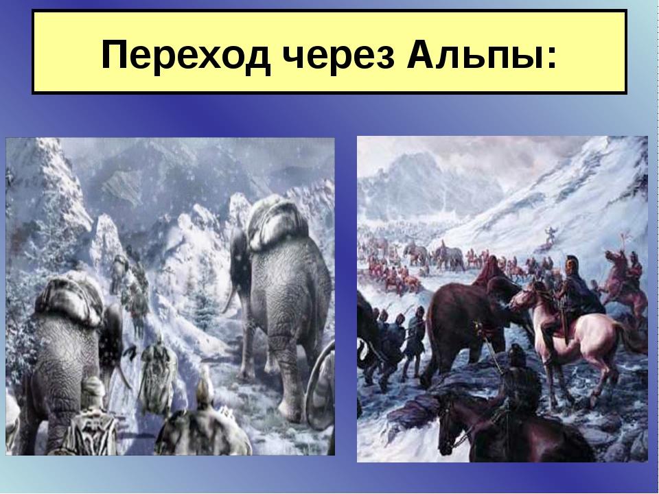 Переход через Альпы: