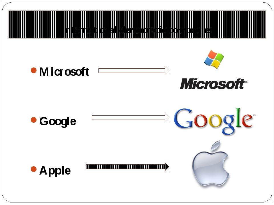 International democratic companies Microsoft Google Apple