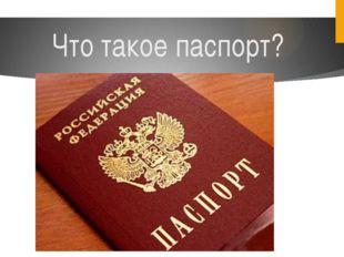 Что такое паспорт?