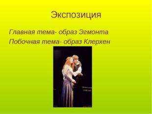 Экспозиция Главная тема- образ Эгмонта Побочная тема- образ Клерхен