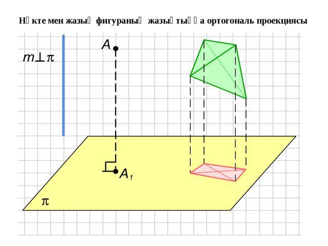 Нүкте мен жазық фигураның жазықтыққа ортогональ проекциясы