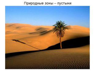 Природные зоны – пустыни