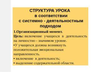 1.Организационный момент. Цель:включение учащихся в деятельность на личностн