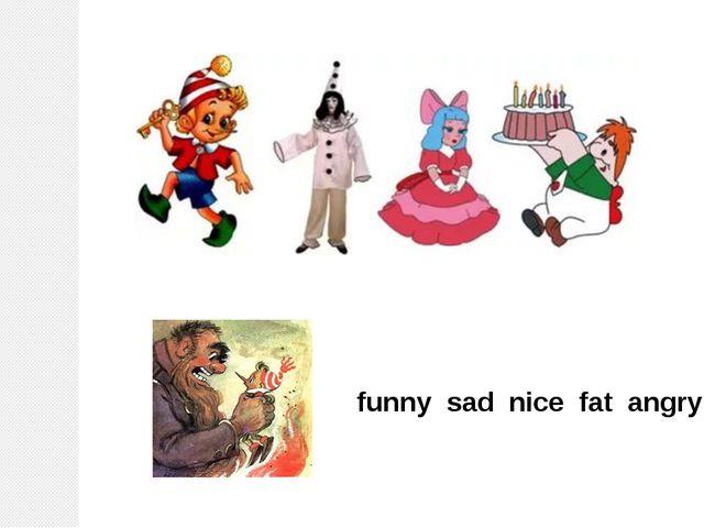 funny sad nice fat angry