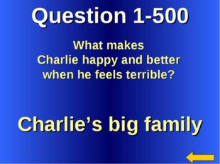 Question 1-500 Charlie's big family What makes Charlie happy and better when