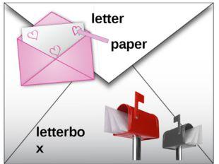 letter letterbox paper