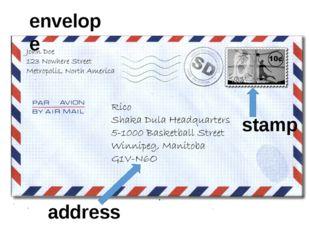 envelope stamp address