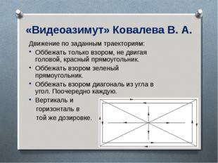 «Видеоазимут» Ковалева В. А. Движение по заданным траекториям: Оббежать тольк