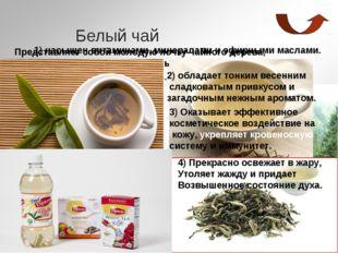 Белый чай Представляет собой молодую почку чайного дерева, обильно покрытую г
