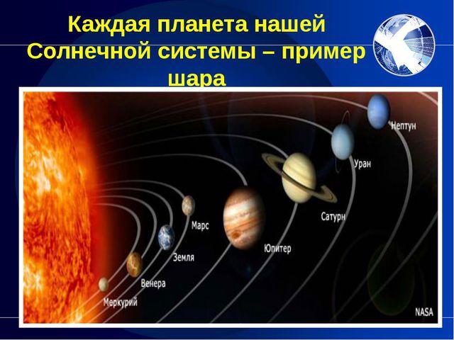 Каждая планета нашей Солнечной системы – пример шара Предлагаю учащимся назва...