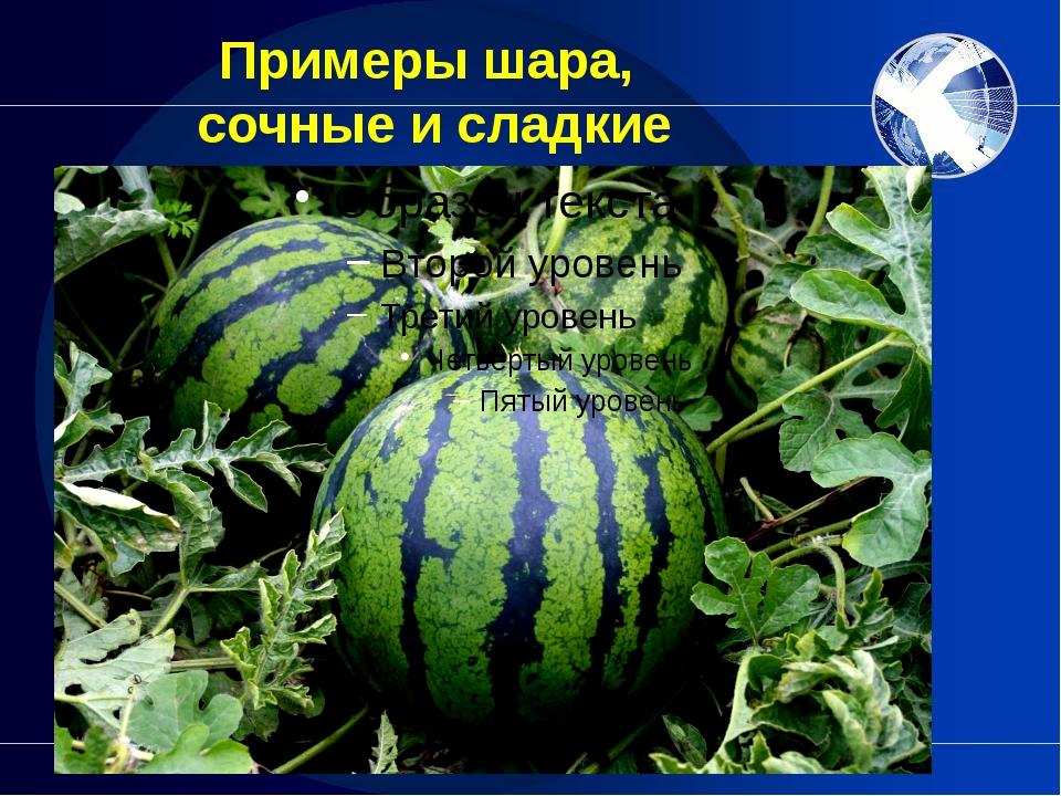 Примеры шара, сочные и сладкие Конечно, когда ешь эту сладкую ягоду, не всегд...