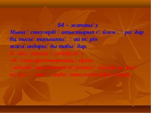 54 – жаттығу Мына үстеулерді қатыстырып сөйлем құраңдар да, пысықтауыштың қа