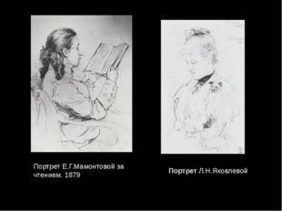 ПортретЛ.Н.Яковлевой Портрет Е.Г.Мамонтовой за чтением. 1879