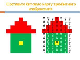 Составьте битовую карту трехбитного изображения