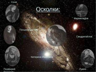 Осколки: Мармеладов Порфирий Петрович Лужин Свидригайлов Соня Катерина Иванов