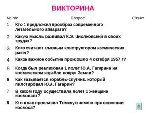 ВИКТОРИНА № п/пВопросОтвет 1Кто 1 предложил прообраз современного летатель