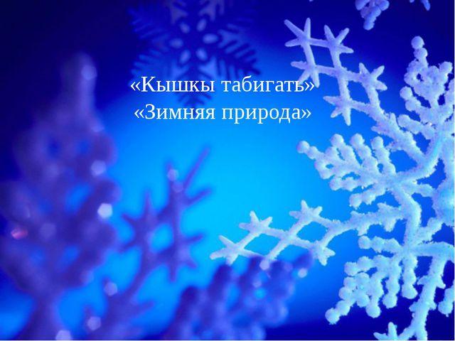 «Кышкы табигать» «Зимняя природа»