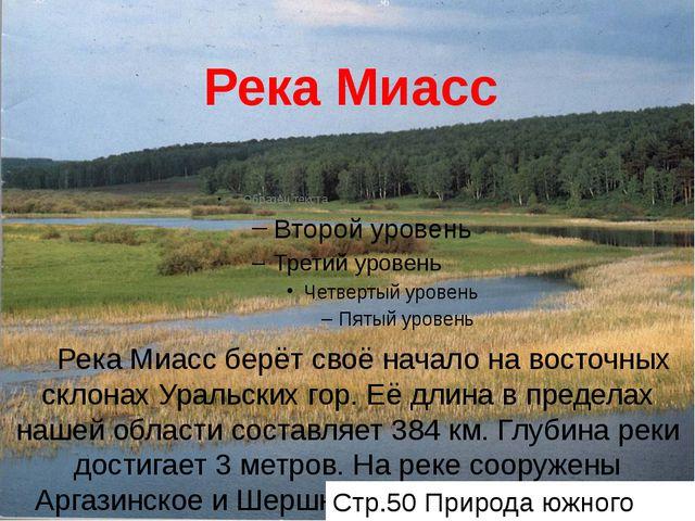Река Миасс Река Миасс берёт своё начало на восточных склонах Уральских гор. Е...