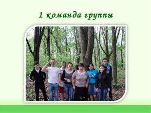 1 команда группы