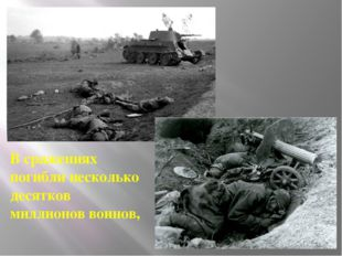 В сражениях погибли несколько десятков миллионов воинов,