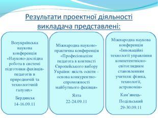 Всеукраїнська наукова конференція «Науково-дослідна робота в системі підготов