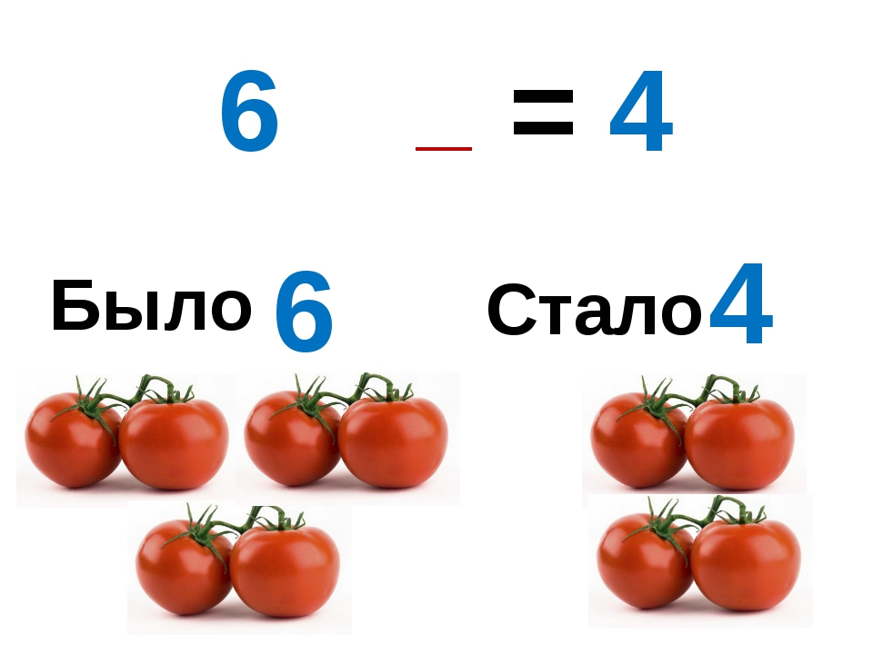 Было Стало 6 4 6 – 2 = 4