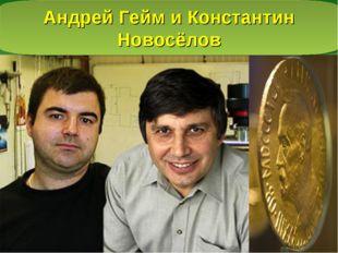Андрей Гейм и Костантин Новосёлов Андрей Гейм и Константин Новосёлов