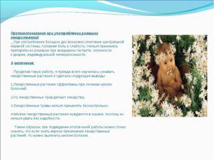 Противопоказания при употреблении ромашки лекарственной При употреблении боль