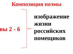 Композиция поэмы Главы 2 - 6 изображение жизни российских помещиков