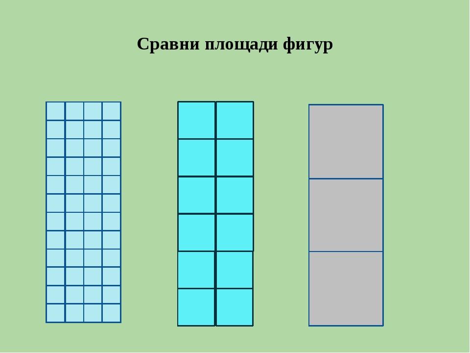 Сравни площади фигур