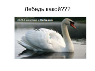 Лебедь какой???