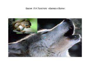 Басня Л.Н.Толстого «Белка и Волк».