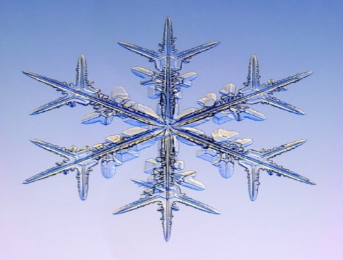 Тайные коды кристаллов льда снежинки под микроскопом