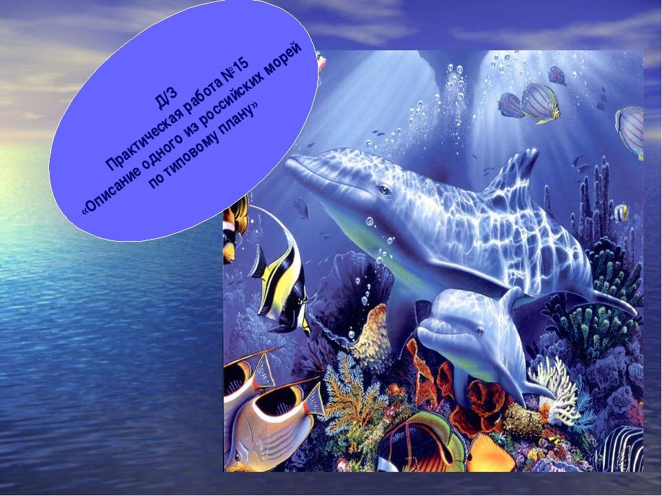 Д/З Практическая работа №15 «Описание одного из российских морей по типовому...