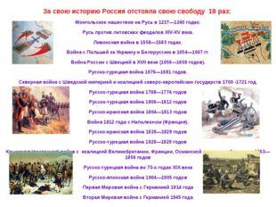 За свою историю Россия отстояла свою свободу 18 раз: Монгольское нашествие н