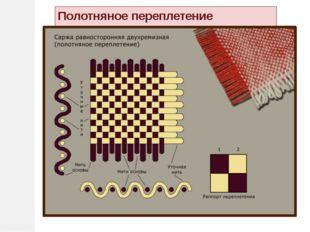 Виды ткацких переплетений Полотняное Саржевое Нити утка Нити основы у о