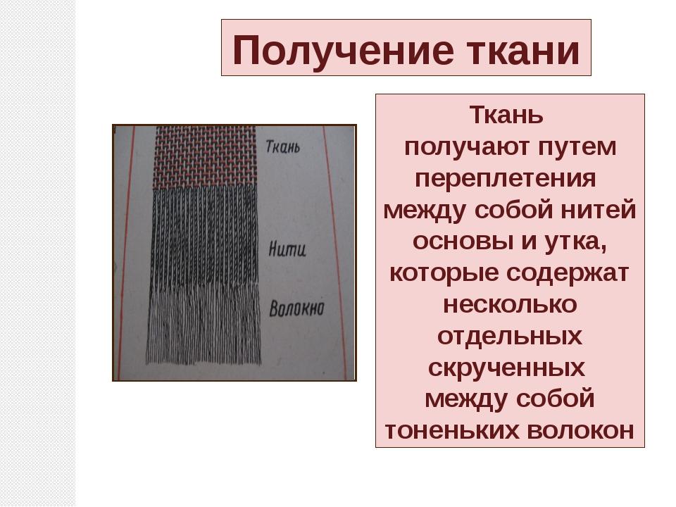 Нити основы и утка Нити, переплетаясь между собой, образуют полотно (ткань) Н...