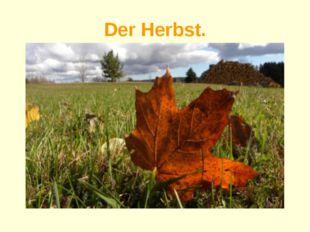 Der Herbst.