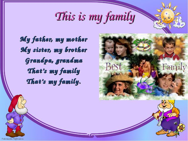My father, my mother My father, my mother My sister, my brother Grandpa, g...