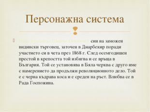 Иван Кралицът (Бойчо Огнянов): син на заможен видински търговец, заточен в Ди