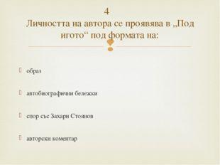 образ автобиографични бележки спор със Захари Стоянов авторски коментар 4 Л