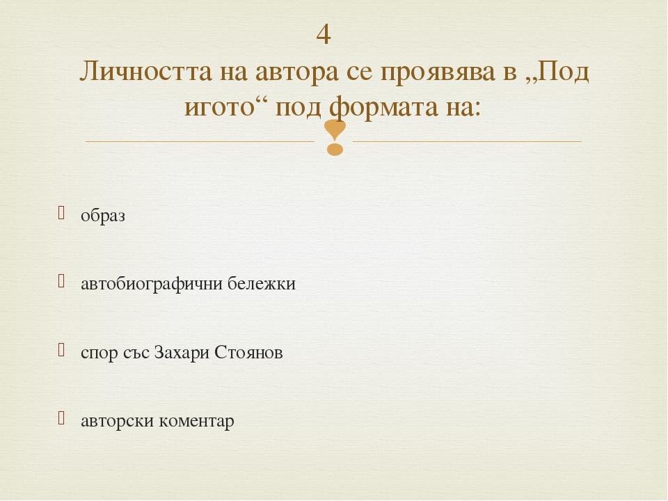 образ автобиографични бележки спор със Захари Стоянов авторски коментар 4 Л...