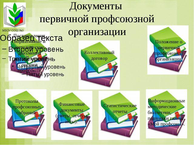 Документы первичной профсоюзной организации Коллективный договор Постановлени...
